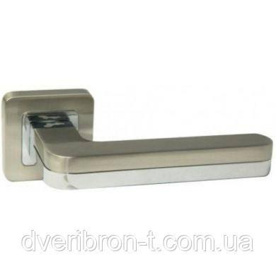 Дверные ручки Safita 699R40 SN/CP матовый никель/хром полированный, фото 2