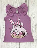Летняя майка для девочки Кролик