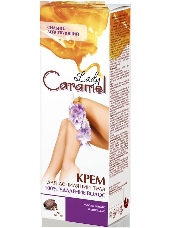 """Крем для депіляції тіла Lady Caramel 100% видалення волосся """"Сильно діючий"""""""