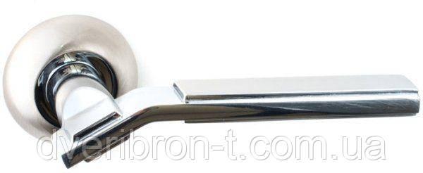 Дверные ручки Safita 251 R41 SN/CP матовый никель/полированный хром, фото 2