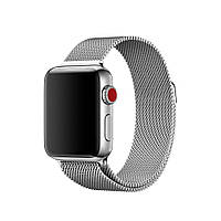 Миланский сетчатый браслет Milanese Loop Band for Apple Watch 42/44 mm silver