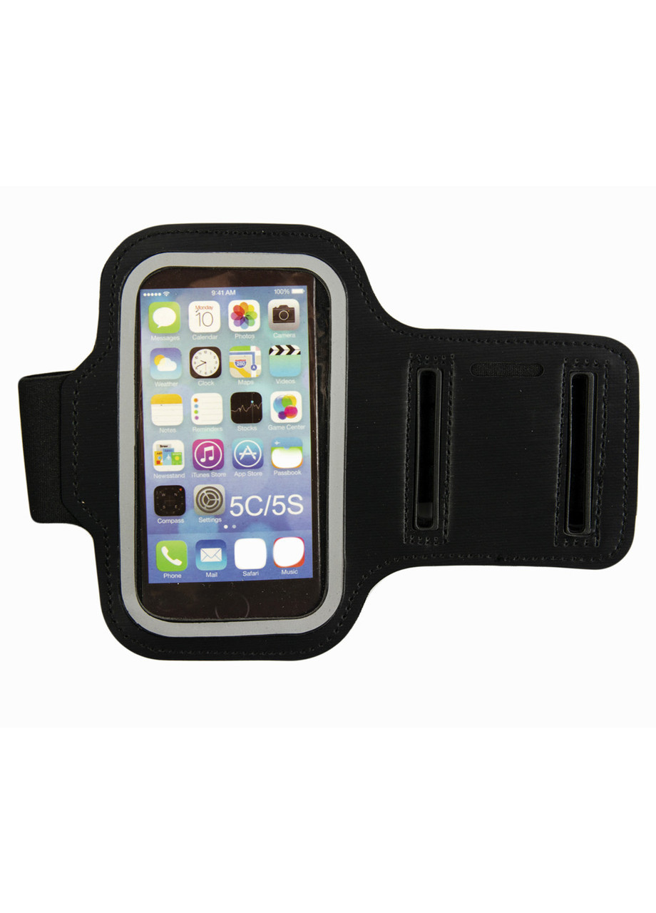 Спортивный чехол на руку для телефона  iPhone 5/5s Penny 11х6см Черный, Прозрачный