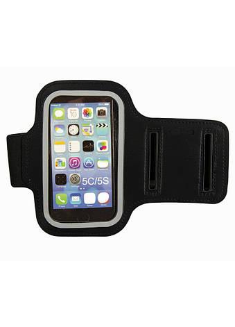 Спортивный чехол на руку для телефона  iPhone 5/5s Penny 11х6см Черный, Прозрачный, фото 2