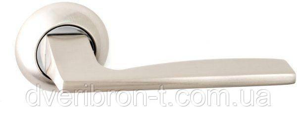 Дверні ручки Safita 218 R41 SN/CP матовий нікель/полірований хром, AB-бронза.