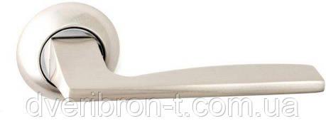 Дверні ручки Safita 218 R41 SN/CP матовий нікель/полірований хром, AB-бронза., фото 2