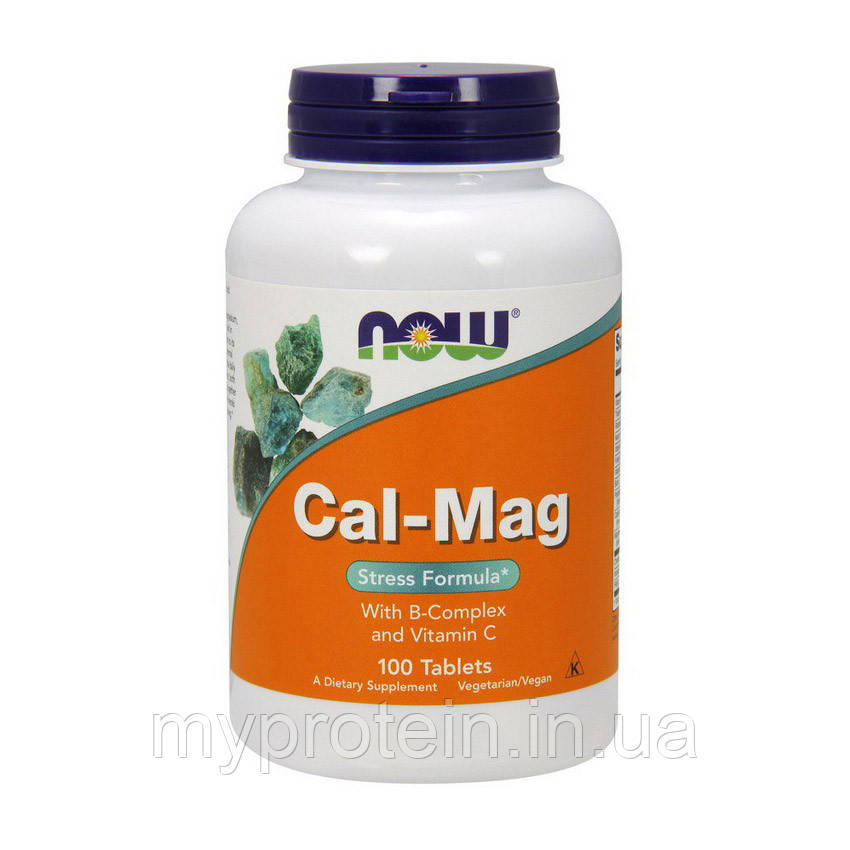 NOW Кальций магний стресс формула Cal-Mag stress formula (100 tab)