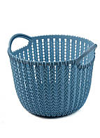 Корзина для хранения вещей Yimei 20,3х19,2х15,6см Голубой