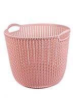 Корзина для хранения вещей Yimei 39,7х38х32,8см Розовый