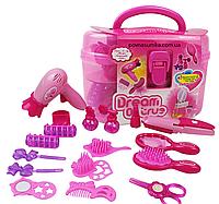 Набір перукаря, в рожевому валізці з ручкою, 11х20х12,салон краси
