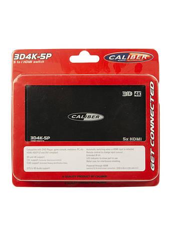 HDMI-переключатель 5 в 1  Caliber 12х6см Черный, Серый, фото 2
