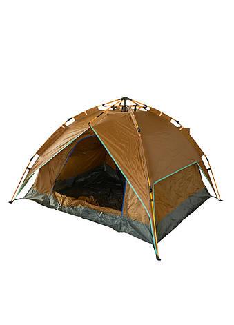 Палатка на 4 персоны Tent 230х210х140см Серый, Коричневый, Салатовый, фото 2
