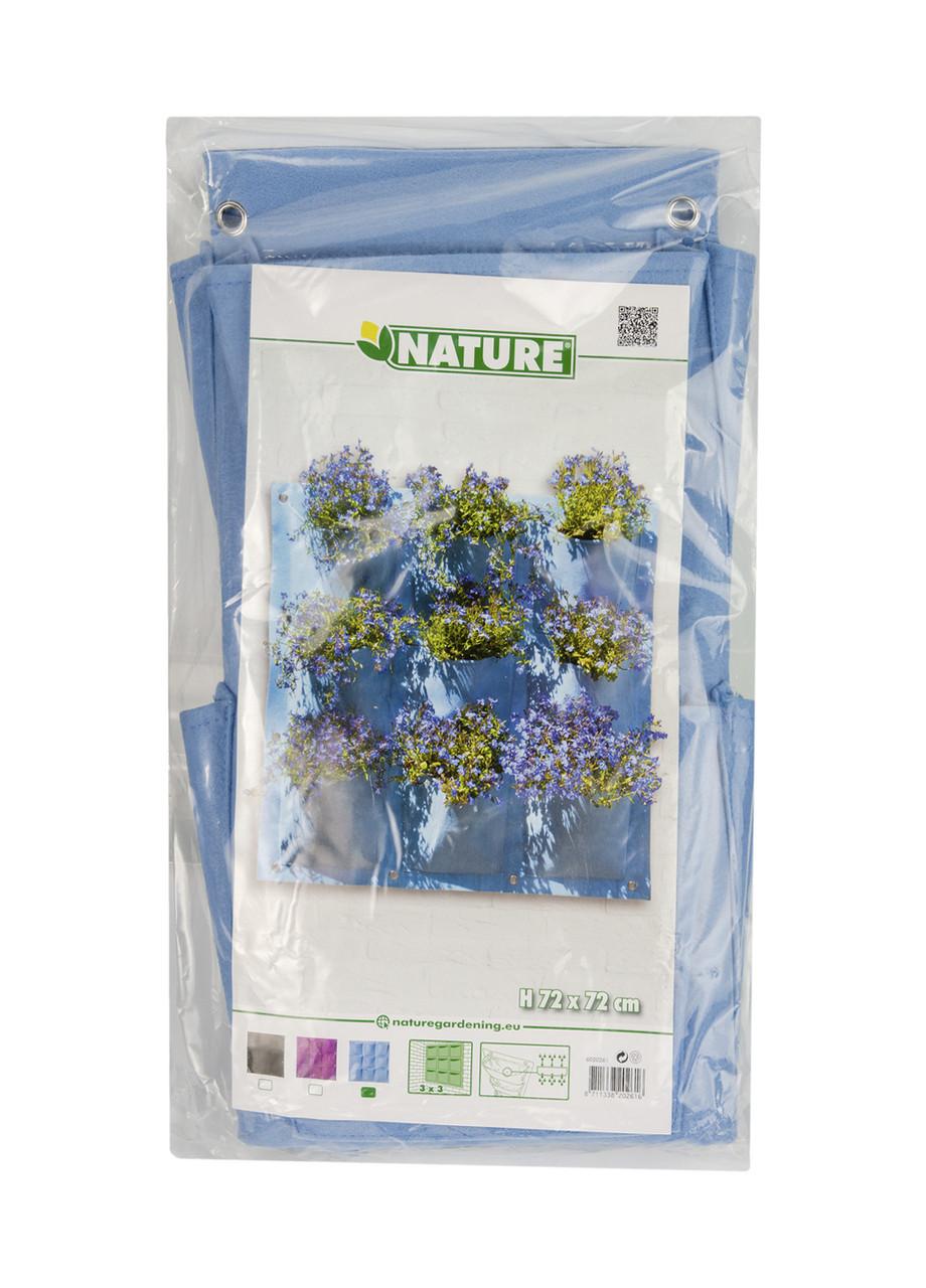 Органайзер настенный для цветов Nature 72х72см Голубой