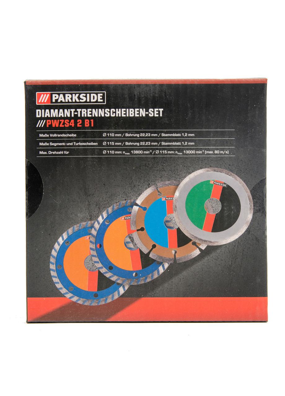 Набор алмазных дисков PWZS4 (4шт) Parkside 13,5х2х13,5см Серый, Красный, Зеленый