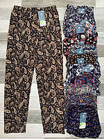 Cултанки, брюки женские цветные бамбук Олань, без карманов, размер L-2XL (48-52), 009-3