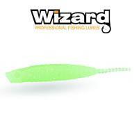 Силиконовая приманка Wizard Merabu Worm 4см Light Green 10шт /уп