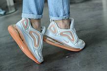 Женские кроссовки в стиле Nike Air Max 720 White/Orange (36, 37, 38, 40 размеры), фото 3