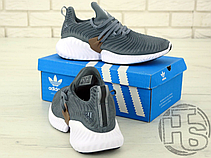 Мужские кроссовки Adidas Alphabounce Instinct Grey/White B76038, фото 3