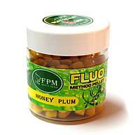 Наживка Soft Method Pellet Fluo FPM Baits® 8 mm 50 g в банке Plum Слива