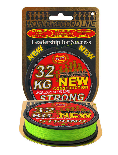 Шнур WFT KG Strong Chartreuse Round Braid 150 м 0.08 мм 10 кг (30442008) Germany