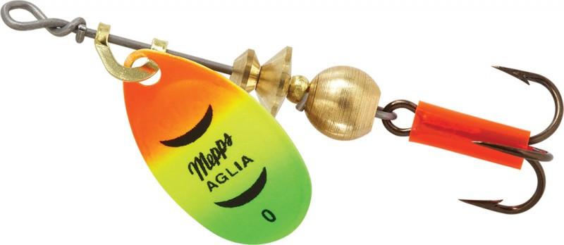 Блесна Mepps Aglia 0 Fluo Tiger 2.5 г