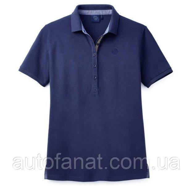 Оригинальная женская рубашка-поло Volkswagen Logo Polo-Shirt, Ladies, Blue (5TD084240530)