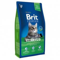 Корм Brit Premium Cat Sterilised Брит Преміум Кет Стерілайзет для кішок з куркою 8 кг