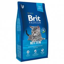 Корм Brit Premium Cat Kitten Брит Преміум Кет Кіттен для кошенят з куркою 8 кг