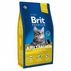 Корм Brit Premium Cat Adult Salmon Брит Преміум Кет Едалт для кішок з лососем 8 кг