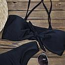 Черный женский купальник модель Бандо, фото 2