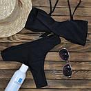 Черный женский купальник модель Бандо, фото 4