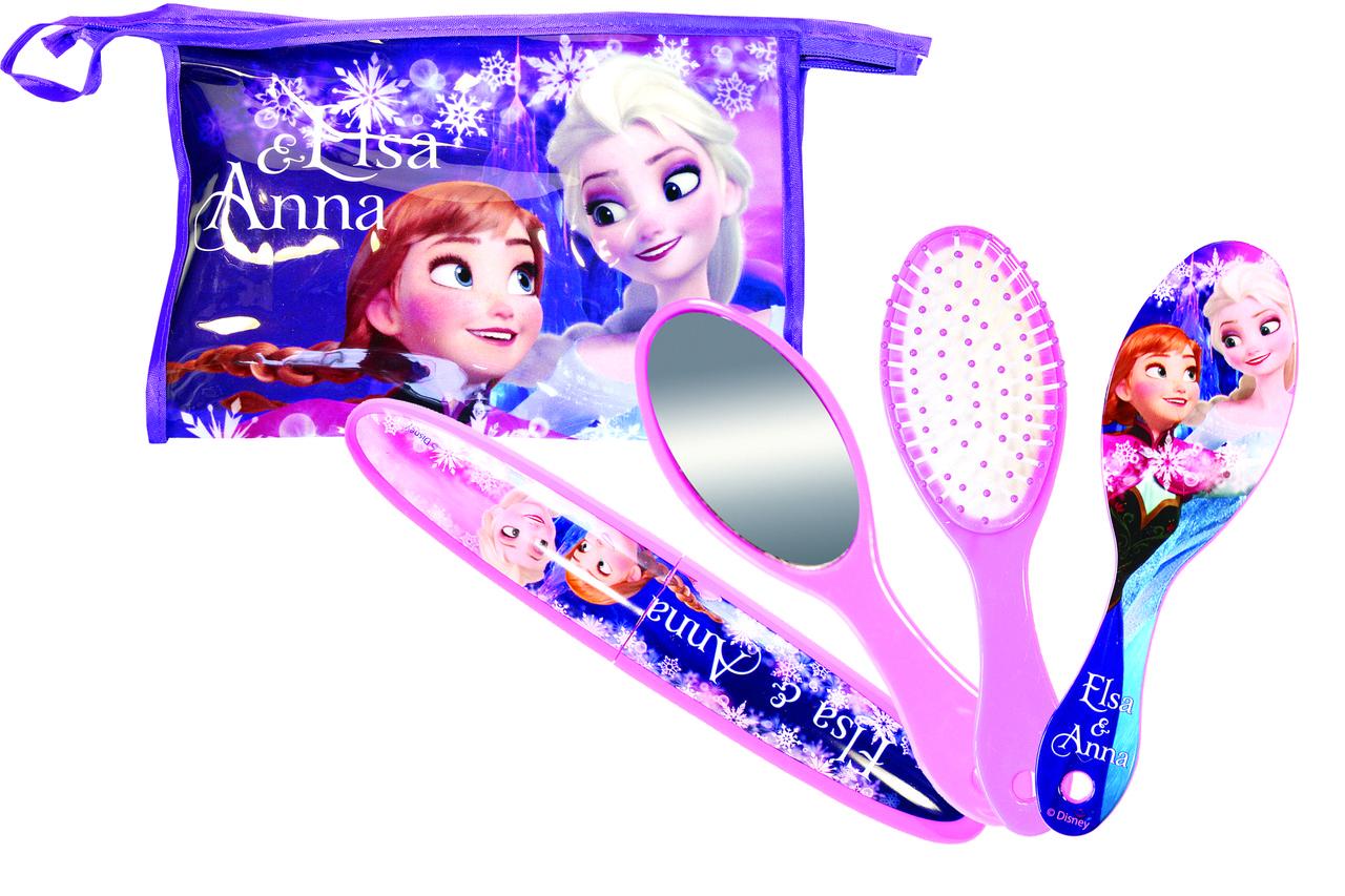 Детский набор (зеркало + расческа + тубус для зубной щетки) La Rosa 7040