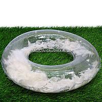Круг надувной для плавания SR1910 с перьями, диаметр 70 см. Подходит для отдыха на море, в бассейне (4 цвета) Белый