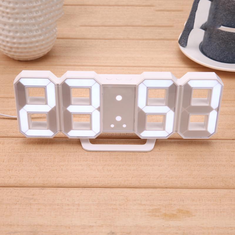 Электронные настольные LED часы с будильником и термометром Caixing CX-2218 White (белая подсветка)