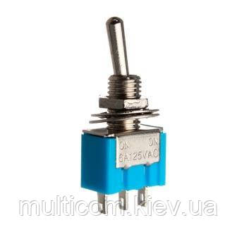 11-00-064. Тумблер MTS-102 (ON-ON), 3pin, 6А-125V/3A-250V