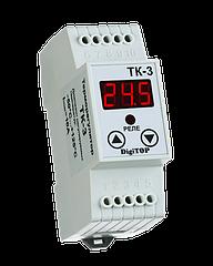 Терморегулятор DigiTOP ТК-3 DIN (одноканальный, датчик DS18B20)  -55...+125С