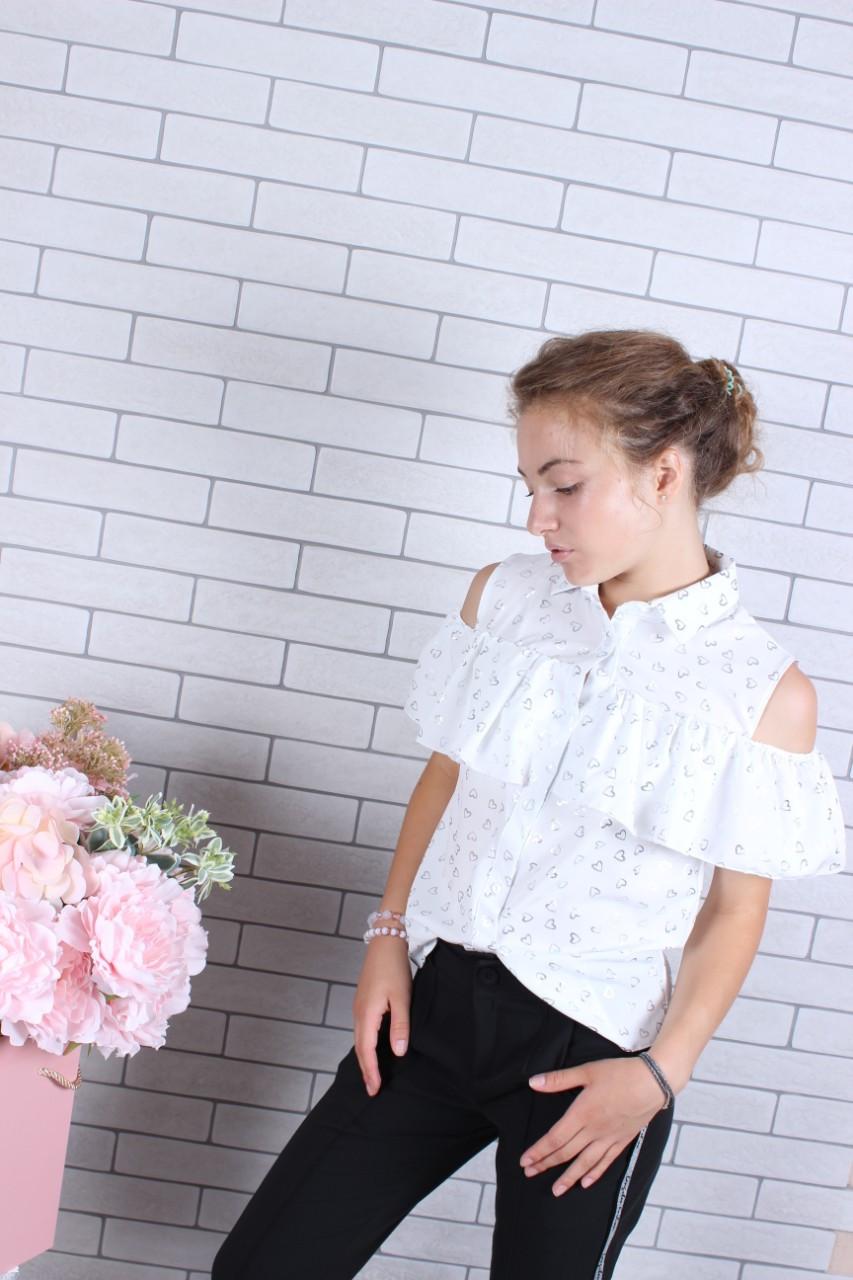 Блузка для девочки в школу р. 134-164
