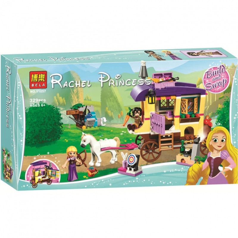 "Конструктор Bela 11057 ""Экипаж Рапунцель"" (аналог Lego Disney Princess 41157), 329 дет"