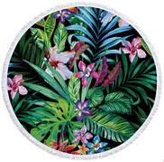 Пляжный коврик из микрофибры Сад цветов