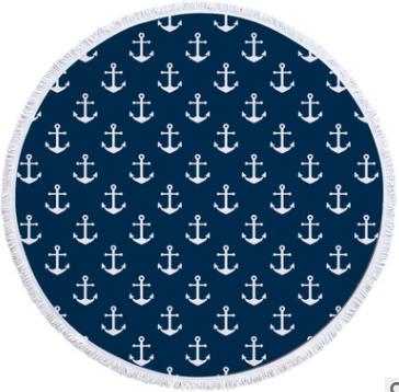 Пляжный коврик из микрофибры Якоря
