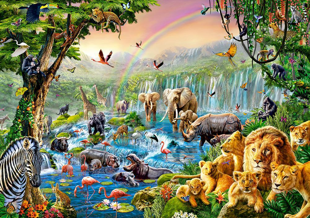 """Пазлы  """"Река в джунглях"""" 500 эл."""