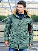 Куртка аляска Slim Fit N-3B Parka Alpha Industries, США (оливковая)