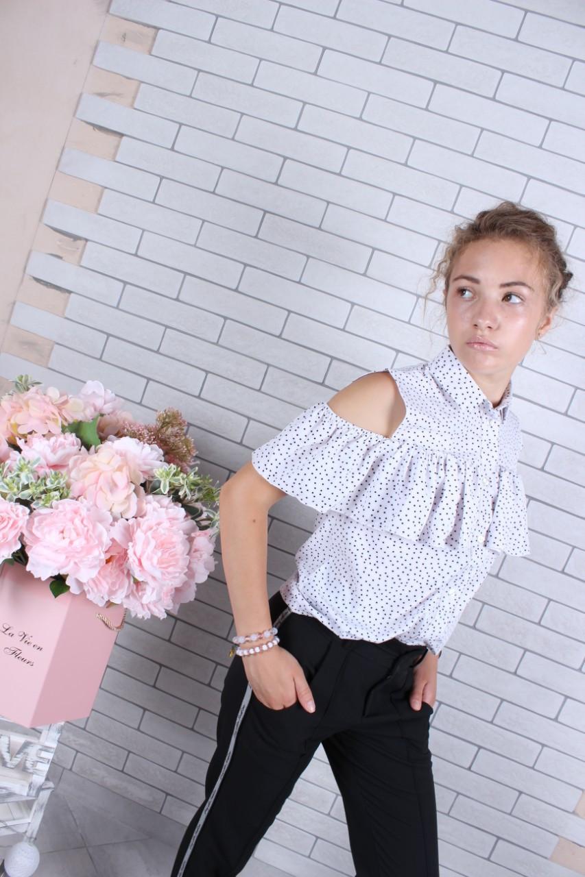 Школьная блузка для девочки р. 134-164 опт