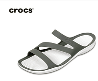 Женские Crocs Swiftwater Sandal grey