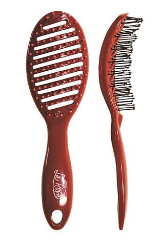 Расчёска для волос La Rosa пластмассовая продувная 23 см NEW 5052