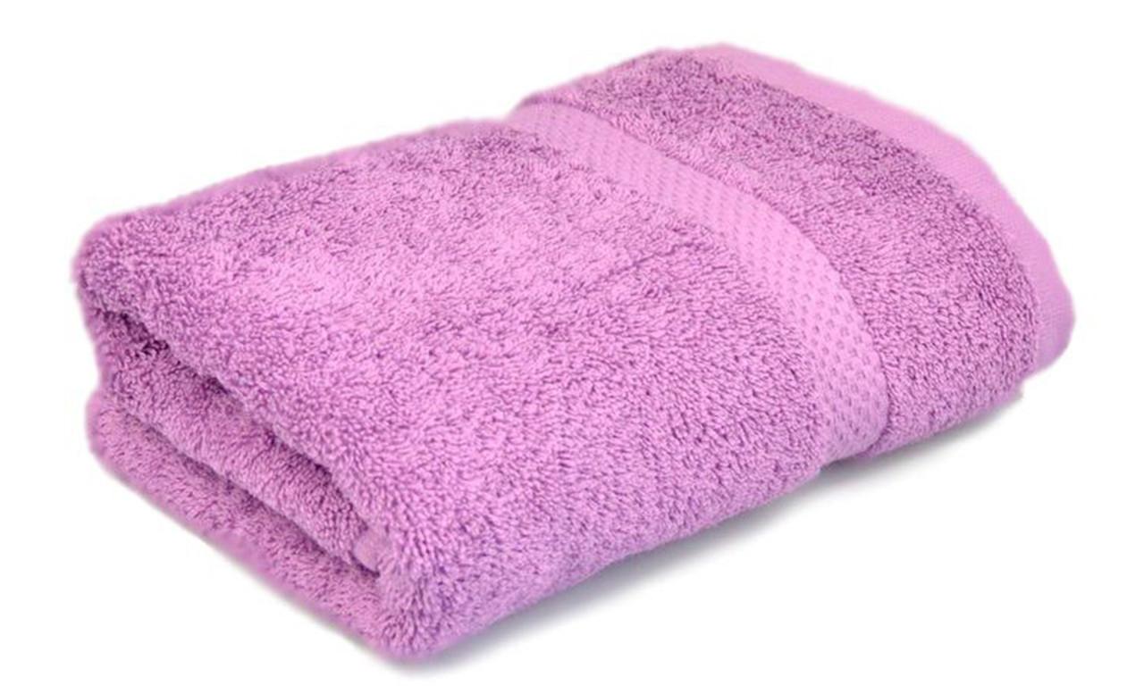 Полотенце махровое, бордюр, 50х90, цвет: сиреневый