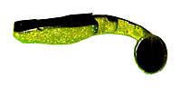 Силиконовая приманка Wizard Predator 6см Glitter Black/Green/Black Tail
