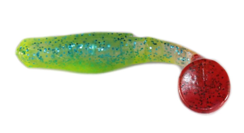 Силиконовая приманка Wizard Predator 6см Glitter Blue/Green/Red Tail