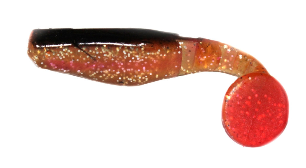 Силиконовая приманка Wizard Predator 8см Glitter Black/Clear/Red Tail