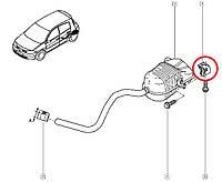 Кронштейн крепления (задний) глушителя Renault Megane II. Оригинал Renault 8200035448