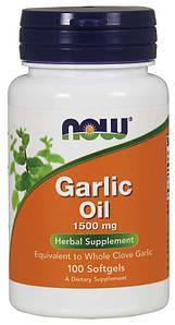 Масло Чеснока Now Foods Garlic Oil 1500 mg 100 Softgels